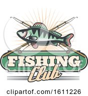 Clipart Of A Fishing Design Royalty Free Vector Illustration