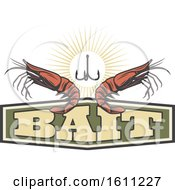 Clipart Of A Fishing Shrimp Design Royalty Free Vector Illustration
