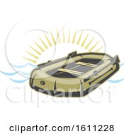 Clipart Of A Raft Boat Design Royalty Free Vector Illustration