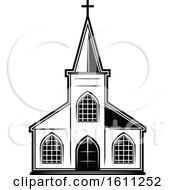 Poster, Art Print Of Black And White Church