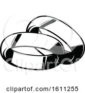 Poster, Art Print Of Black And White Wedding Bands