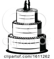 Poster, Art Print Of Black And White Wedding Cake