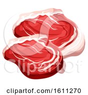 Clipart Of Red Meat Royalty Free Vector Illustration