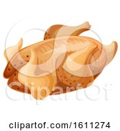 Clipart Of Roasted Chicken Or Turkey Royalty Free Vector Illustration
