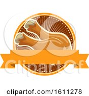 Clipart Of A Chicken Drumstick Design Royalty Free Vector Illustration