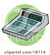 Calculator With 007 On The Display Clipart Illustration