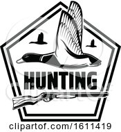 Black And White Duck Hunting Design
