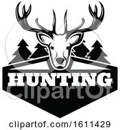 Black And White Deer Hunting Design