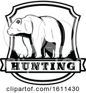 Black And White Bear Hunting Design