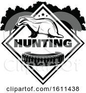 Black And White Badger Hunting Design