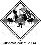 Poster, Art Print Of Black And White Bird Hunting Design