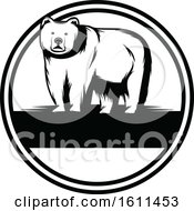 Clipart Of A Black And White Bear Design Royalty Free Vector Illustration by Vector Tradition SM