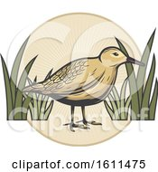 Clipart Of A Bird Hunting Design Royalty Free Vector Illustration
