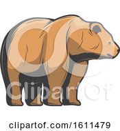 Clipart Of A Bear Hunting Design Royalty Free Vector Illustration by Vector Tradition SM