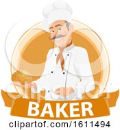 Clipart Of A Baker Design Royalty Free Vector Illustration