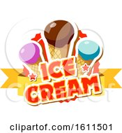 Poster, Art Print Of Dipped Ice Cream Cone Design