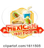 Clipart Of A Mexican Fast Food Design Royalty Free Vector Illustration