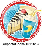Clipart Of A Soda And Cheesecake Design Royalty Free Vector Illustration