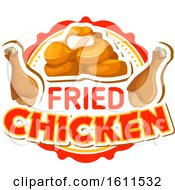 Clipart Of A Fried Chicken Food Design Royalty Free Vector Illustration