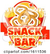 Clipart Of A Snack Bar Food Design Royalty Free Vector Illustration