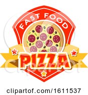 Clipart Of A Pizza Design Royalty Free Vector Illustration