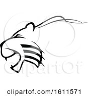 Clipart Of A Profiled Angry Big Cat Mascot Royalty Free Vector Illustration by Vector Tradition SM