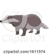 Clipart Of A Badger Royalty Free Vector Illustration