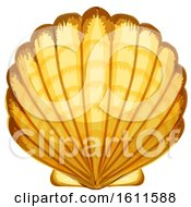 Clipart Of A Sea Shell Royalty Free Vector Illustration