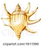 Clipart Of A Sea Shell Royalty Free Vector Illustration by Vector Tradition SM