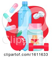 Clipart Of A Weight Loss Design Royalty Free Vector Illustration