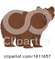 Clipart Of A Bear Royalty Free Vector Illustration by Vector Tradition SM