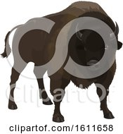 Clipart Of A Dark Bison Royalty Free Vector Illustration by Vector Tradition SM