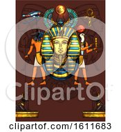Clipart Of An Ancient Egyptian Design Royalty Free Vector Illustration by Vector Tradition SM