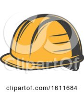 Clipart Of A Hardhat Royalty Free Vector Illustration