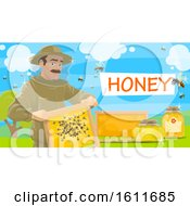 Clipart Of A Beekeeper Royalty Free Vector Illustration by Vector Tradition SM