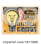 Poster, Art Print Of Vintage Styled Electrical Goods Sign