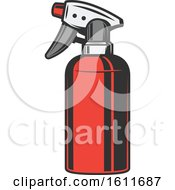 Clipart Of A Spray Bottle Royalty Free Vector Illustration
