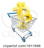 Poster, Art Print Of Shopping Cart Bitcoin Concept