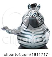 3d Zebra Holding A Wrench On A White Background