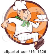 Quick Chef Running With A Bowl Of Hot Soup