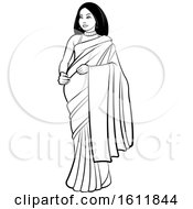 Woman In A Saree