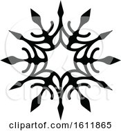 Winter Snowflake In Black And White