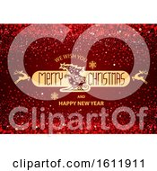 Clipart Of A Merry Christmas Royalty Free Vector Illustration