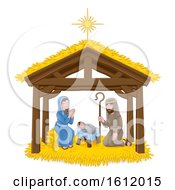 Poster, Art Print Of Christmas Nativity Scene Cartoon