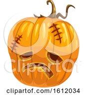 Clipart Of A Jackolantern Halloween Pumpkin Royalty Free Vector Illustration