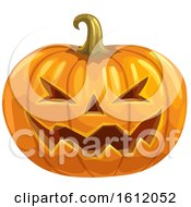 Clipart Of A Jackolantern Halloween Pumpkin Royalty Free Vector Illustration by Vector Tradition SM