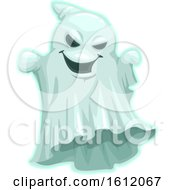Clipart Of A Spooky Halloween Ghost Royalty Free Vector Illustration