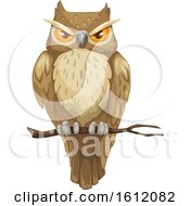 Poster, Art Print Of Perched Owl