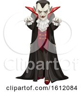 Clipart Of An Approaching Vampire Royalty Free Vector Illustration