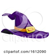 Clipart Of A Purple Witch Hat Royalty Free Vector Illustration